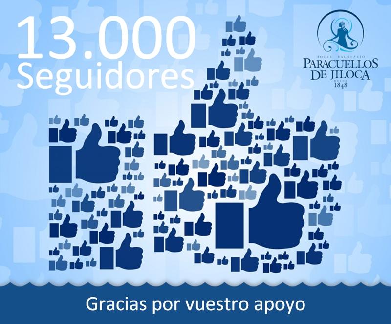 13000 seguidores facebook