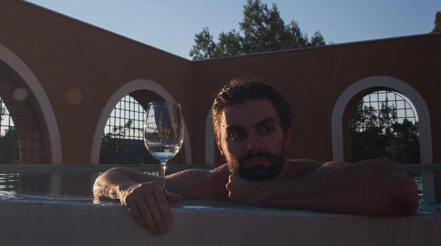Atardecer piscina relax Balneario
