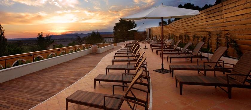 Terraza solarium Balnearios de Aragon