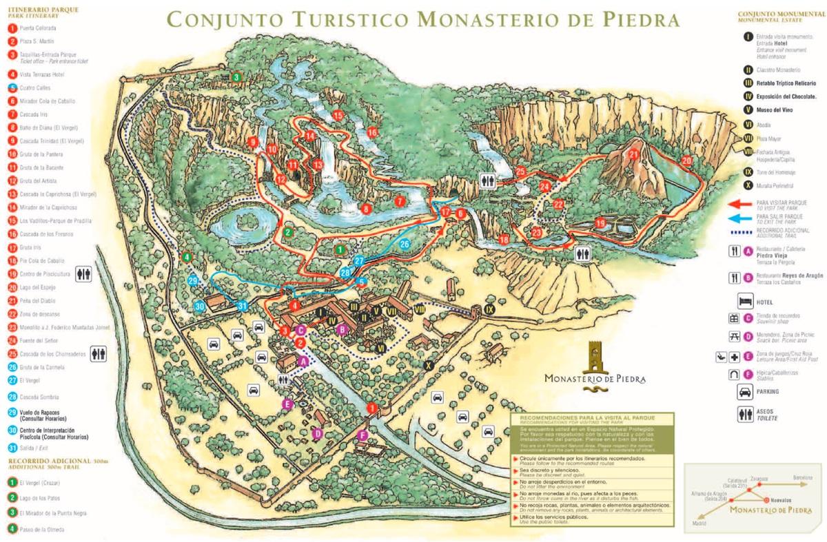 Plano Monasterio de Piedra